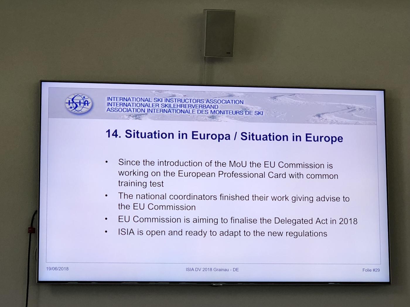 ISIA vergadering 19 juni 2018
